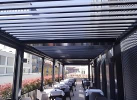Pergola bois terrasse à Nice