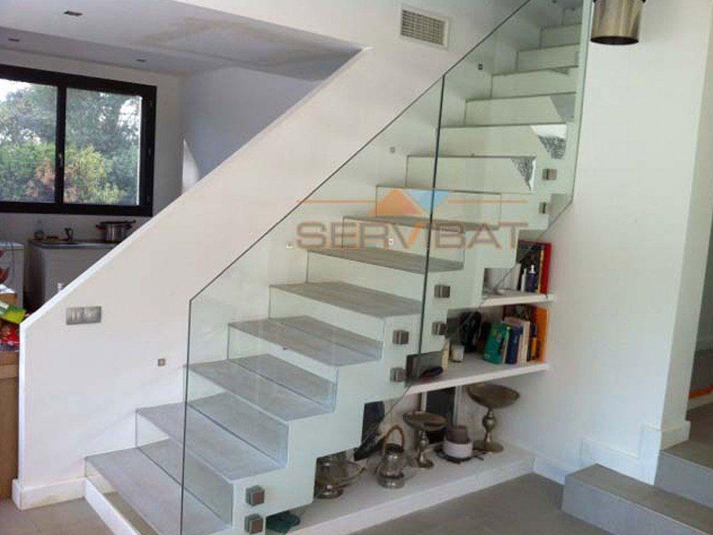 Habiller Un Poteau Interieur garde-corps en verre pour extérieur ou intérieur à nice