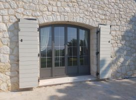 Fenêtre en aluminium cintrée - Nice